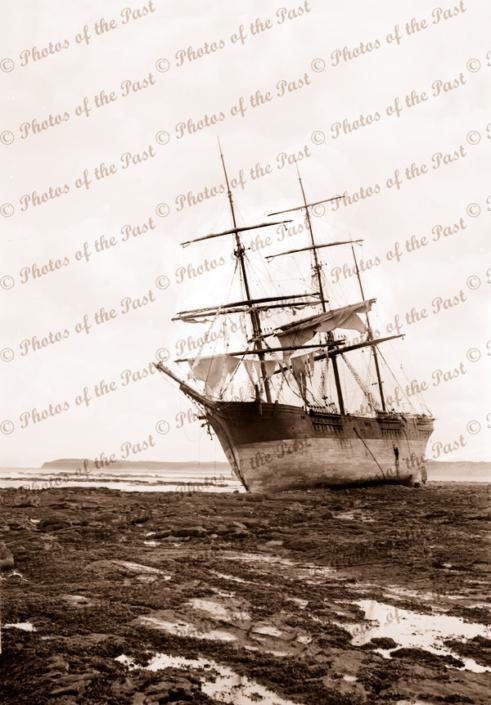 3M barque ARTISAN (Built 1881), stranded near Cape Patterson, Victoria. 1901. Shipwreck
