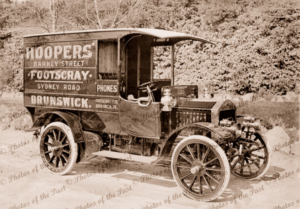 "'Albion"" Delivery van for Hoopers of Footscray Victoria, c1920"