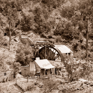 Waterwheel at Jericho, Victoria, c1908