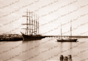 6 m schooner DOROTHY H STERLING at Timber Co. Wharf, Port Adelaide, South Australia. 1929