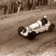 Alan Sinclair driving S/C Alta car on Lobethal circuit, SA. South Australia. C1938. Motor car racing. 1938
