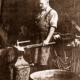 Blacksmith at work, 1935