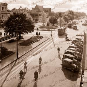 Sturt Street, Ballarat, Victoria, 1947 cars