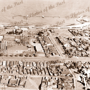 Aerial view over Williamstown, Victoria. 1930s