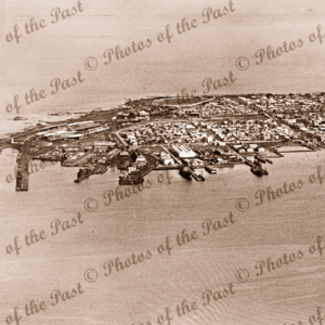 Aerial view of Williamstown, Victoria. from the north. c1930s