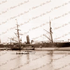 SS SORATA at Melbourne, Victoria. Steam ship. 22 March 1884