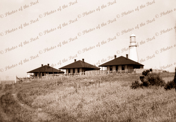 Lighthouse & cottages at Cape Willoughby, Kangaroo Island, SA. 21 December 1938. South Australia.