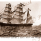 Barque CHANDERNAGOR Took first settlers to Port Breton, New Ireland, Papua New Guinea. Etching. C1880. Shipping