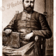 Ler P. Lannuzel Chaplain ship INDIA & Chief Missionary to Colony at Port Breton, New Ireland, Papus New Guinea. Etching, c1880