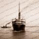 ORONSAY swinging at Outer Harbor, SA. March 1928. Shipping. South Australia