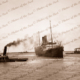 ORSOVA at Outer Harbor, SA. Tugs WATO & WOONDA. 18 November 1933. South Australia. Steam ship