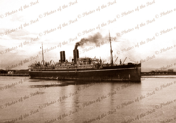RMS MALOJA 12 May 1934. Steam Ship