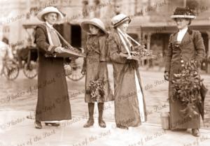 Wattle Day, Adelaide, SA. South Australia, 1918