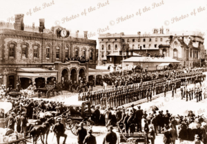 Adelaide railway station, SA. Royal visit. South Australia, 1901