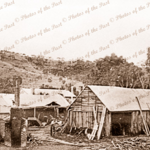 Bowell's Blacksmith shop, Yankalilla, South Australia.c1900. Blacksmith.
