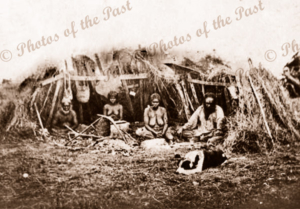 Aborigines at Wellington South Australia. 1875