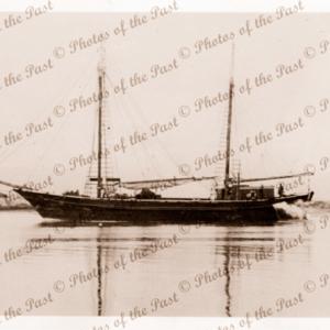 Ketch REGINALD M in Port River. South Australia. 1950. Sailing.