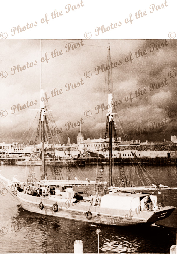 Ketch CAPELLA in Port River opposite Customs House, SA. Shipping