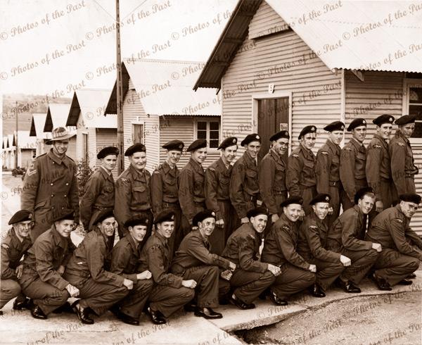 16th Batallion , National Servicemen at Woodside, SA. South Australia. 1950s