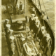 Nurse Edith Cavell's remains arrive Dover. United Kingdom. Executed by Germans WW1, c1919