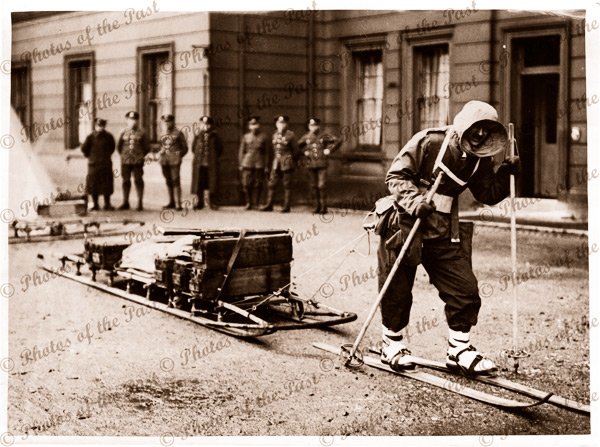 Demonstration of Arctic clothing & Equipment for use. North Russia. 1920s