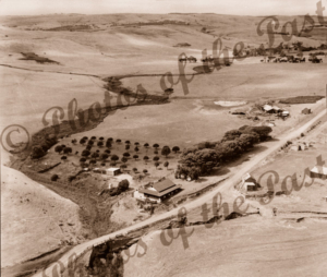 Aerial View of Second Valley Caravan Park, SA. South Australia. c1950
