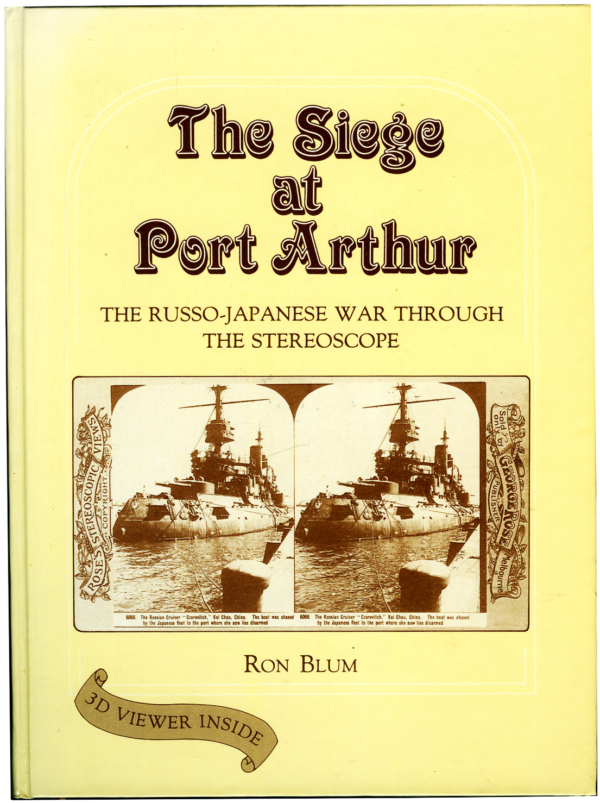 "In February 1904, Port Arthur was a heavily fortified and strategically important treaty port in Manchuria under Russian occupation. War was imminent with Japan, following the breaking of diplomatic relations yet the immediacy of the threat was not recognised. On the evening of the 8th February, 1904, ten Japanese destroyers secretly silently approached the outer harbour. Under cover of darkness the ships churned in at full speed, discharged their torpedoes in quick succession at the unprepared Russian ships, and then fled out to sea. So started the Russo/Japanese war with the Russian Pacific Fleet in tatters, leaving the battle for the fortress largely to the armies. The struggle lasted nearly a year and claimed tens of thousands of lives before Port Arthur finally fell to the Japanese during the first few days of 1905. ""The Siege at Port Arthur"" relates the struggle for the fortress through three dimensional photographs (from the Ron Blum Collection) of the actual events as they happened- The reader can bring the action to life using the stereoscopic viewer included with the book. This profusely illustrated book printed in 1987, is a hardback of 112 pages, is considered to be rare. The book includes a three dimensional viewer located inside the back cover. NOTE. This book was thought to be sold out about 25 years ago but the author has recently discovered a box of them 'brand new! Perfect for those interested in 3-D, military or a good read."