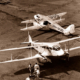 Two DH 89's Dragon Rapide aircraft at Adelaide airport