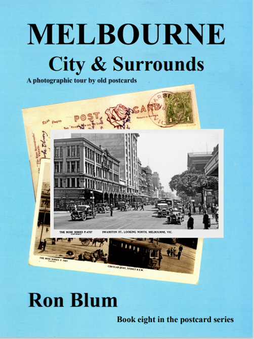 In this book, the eighth in the postcard series we take a look at the city of Melbourne, Victoria's beautiful capital. We see long forgotten street-scapes with buildings long gone, now replaced with modern edifices. The old cars chugging along the tree-lined streets are now collectors' items. The beautiful Yarra River with its rowers can be seen as well as the Queen Victoria, Alexandra and Fitzroy Gardens. We leave the city and look at some of the surrounding areas starting at the suburb of Armadale, the home of the Rose Stereograph Company where these postcards were manufactured. We visit Port Melbourne and Williamstown the shipping ports and end up at the seaside suburb of St Kilda with holiday makers visiting Luna Park attractions and the nearby beaches having fun. As with others in this series this book gives a short history of the humble postcard and how they were made but it is very much a picture book filled with large photographs from old postcards. We think you will enjoy the picture journey.