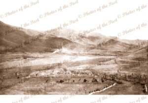Unknown patrol Papua New Guinea. View across wide valley. c1940s