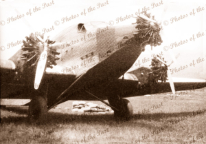 Junkers aircraft on unknown airstrip, Papua New Guinea #2 c1950s?