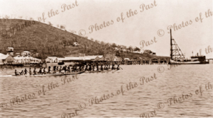 Canoe race Port Moresby. Papua New Guinea. Red Cross Day. 1916