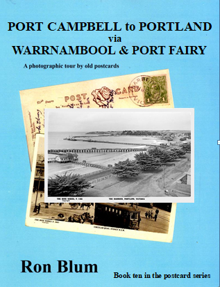 As with others in the series, this book is profusely illustrated with enlarged real photo type postcard images which were very popular many years ago. As with the other books it is limited to 50 pages each near A4 in size. We visit each town in turn, touring Port Campbell with its rugged gorges, the scene of many shipwrecks. In these coastal towns we see vintage cars and streetscapes with building long gone ending at Portland with its deep water port facilities.